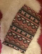 Select aztec aztecka aztecki wzór kolorowa ołówkowa spódniczka ...