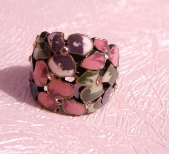 Pierścionek sygnet w kwiaty floral S Opia Atmosphere