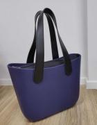 TORBA shopper gumowa jelly bag granatowa wiosna wielkanoc preze...