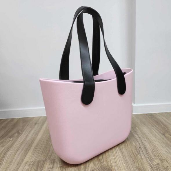TORBA shopper gumowa jelly bag pudrowy róż wiosna wielkanoc prezent