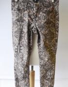 Spodnie Rurki Wzory H&M L 40 Wzorki Dzinsowe Jeansowe Zara Boho...