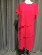 Sukienka nowa r54 różowy plus size...