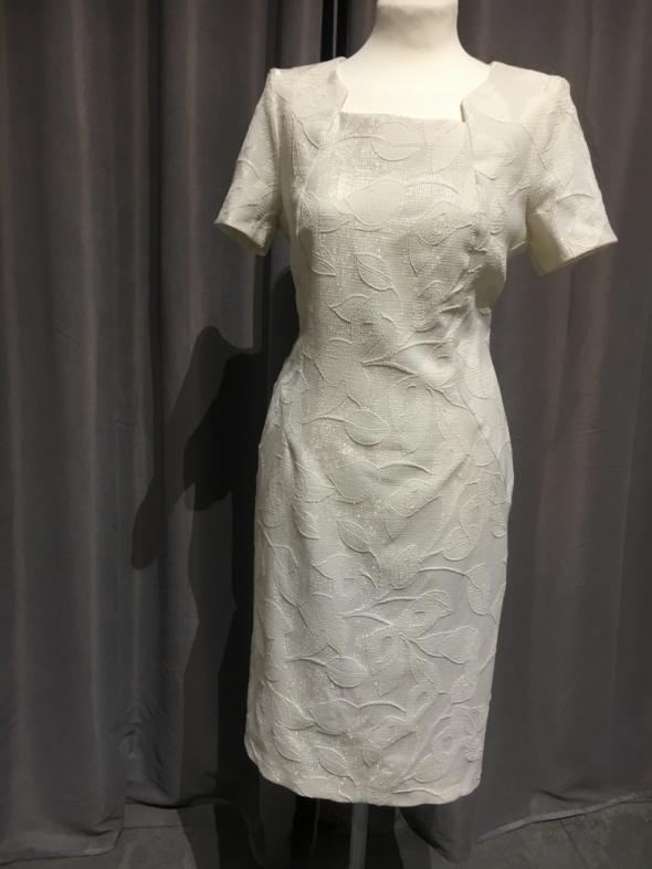 Sukienka nowa r42 krem złota nitka...