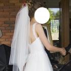 suknia ślubna 32 linia A bolerko welon xxs miseczka A75