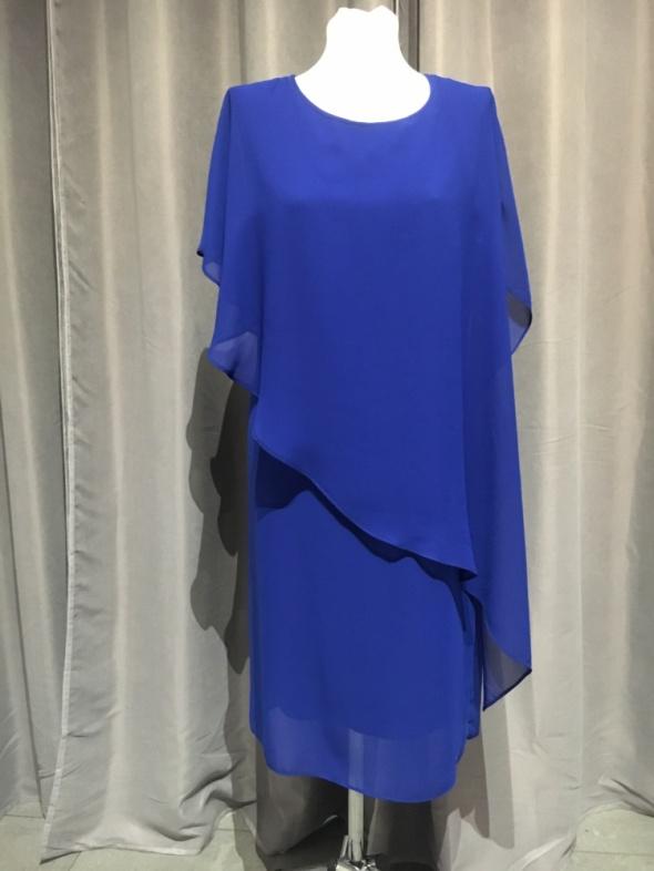 Sukienka nowa r44 chabrowa niebieska granatowa...