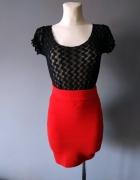 Czerwona spódnica mini rozmiar XS...