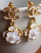 Kolczyki cc camelia chanel perły...