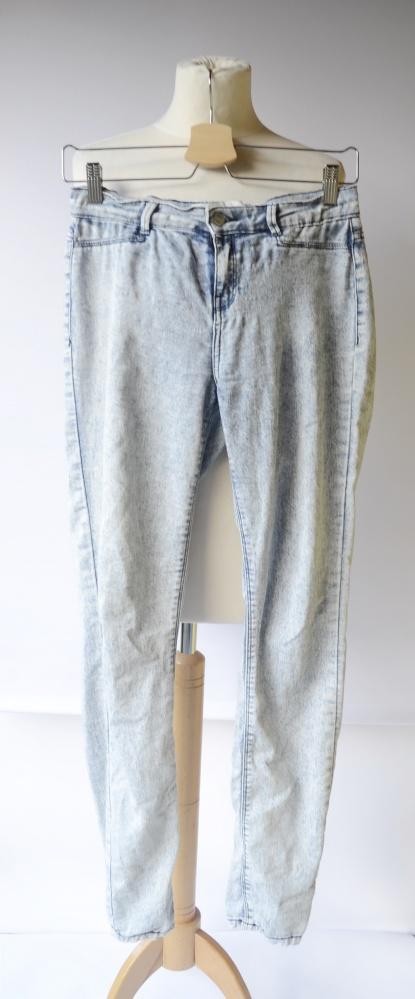Spodnie Zara XS 34 Rurki Dżinsowe Jeansowe Jegging...