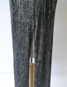 Spodnie Cubus M 38 Rozszerzane Nogawki Srebrne...