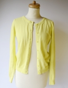Sweter Żółty Neonowy H&M Basic S 36 Guziki Neon Sweterek...