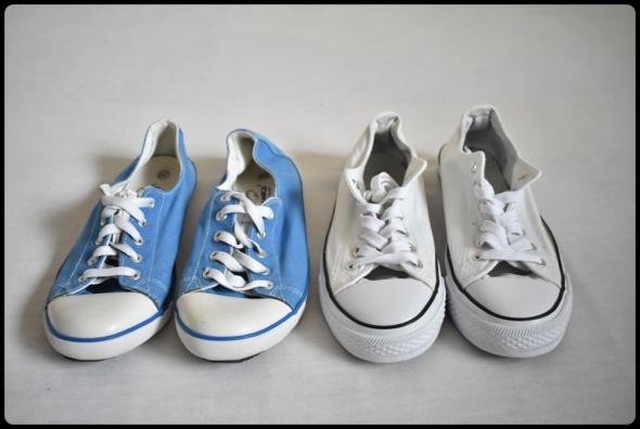 trampki w rozmiarze 38 niebieskie i białe w zestawie...