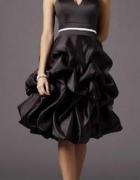 Czarna krótka suknia 36 38...