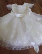 Piękna biała sukienka przyjęcie 98 104...
