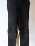 Spodnie H&M Mama Czarne Tregginsy XS 34 Slim High Rib...