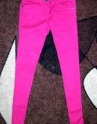 rożowe spodnie rurki S
