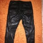Czarne spodnie ekoskóra Chillin Cropp przeszycia M 38