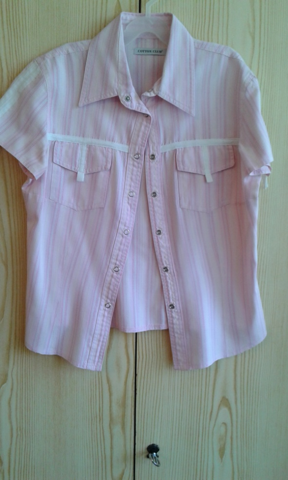Różowa bluzka z kołnierzykiem Cotton Club XS 34