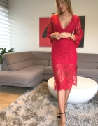 Sukienka Love Triangle midaxi Melody Lane Red rozmiar 34...