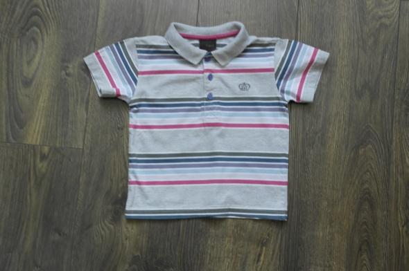 Szara pasy koszulka polo 86 Next