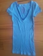 niebieska koszulka hollister...