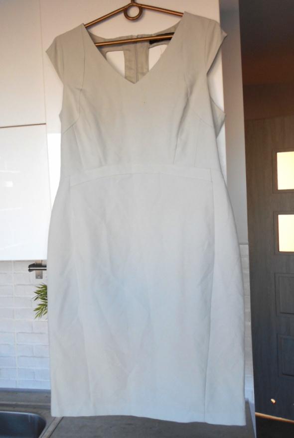 Dorothy Perkins stalowa ołówkowa sukienka wycięcia wesele...