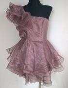 ASOS Black rozkloszowana sukienka S M...