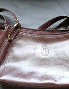 brązowa skórzana torebka