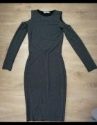 obcisła Długa sukienka z odkrytymi ramionami 36 Maxi...