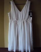 Biała sukienka z koronka...