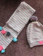 Markowy zestaw czapka i szalik 5 10 15