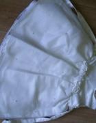 Biała sukienka koraliki róze 86 92 ZIP