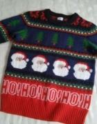 Świateczny sweter w mikołaje 146...