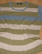 Dzianinowa pasiasta bluzeczka dla puszystej 44 46...