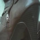 Kozaki buty ciemny brąz na obcasie