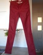 Promod czerwone woskowane rurki spodnie...