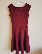 sukienka bordowa Atmosphere 34 XS rozkloszowana...