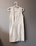 kremowa sukienka h&m