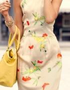 sukienka kwiaty H&m