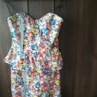 sukienka kwiaty baskinka bez ramiączek