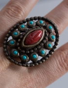 Parfois duży pierścionek vintage etno hippi stary...