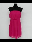 Plisowana sukienka Zara S fuksja