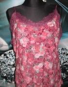 Śliczna tunika na ramiączkach w roz 44 róże...