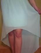 Miętowa asymetryczna mgiełka spódnica Amisu...