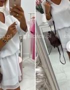 biała letnia sukienka parisian S 36