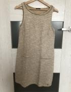 Sukienka rozmiar S Mohito złota nitka beżowa...