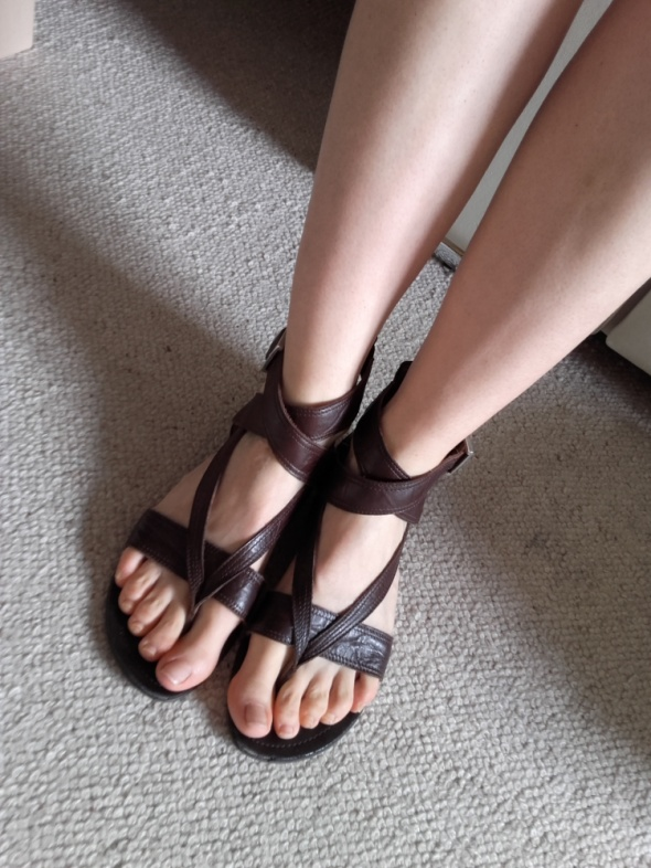 Lasocki brązowe sandały ze skóry nat r 40