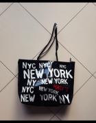 Torebka New York czarna gumowa...