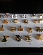 Nowe pozłacane spinki do mankietów na sztuki