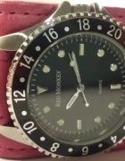 Nowy skórzany zegarek Red Monkey różowy...