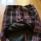 Zimowa spódnica w kratkę S